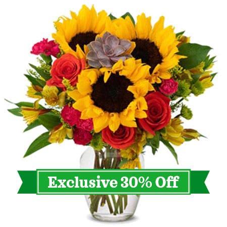 Succulent Sunflower Garden Bouquet