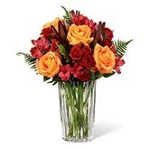 Grateful Heart Orange Rose Bouquet