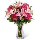 Vestal Pink Lily Bouquet