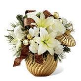 Golden Christmas Ornament Bouquet