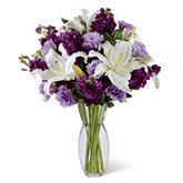 Wondrous Beauty Purple Flowers Bouquet