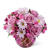 Bubble Pink Flower Bouquet