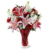 Lasting Red Romance Bouquet