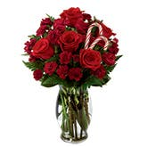 Christmas Rose Candy Cane Bouquet