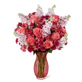 Blushing Rose Coral Bouquet