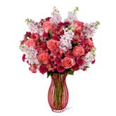 Blushing Coral Roses Bouquet