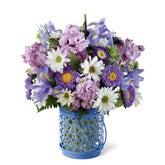 Bluebird Day Purple Flower Bouquet