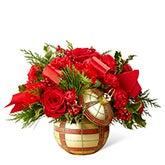 Elegant Gold Ornament Christmas Bouquet