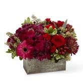 Autumn Burgundy Flower Basket