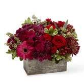 Autumn Burgundy Flower Basket