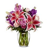 Lily Lavender Mixed Bouquet