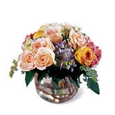 Moments of Bliss Peach Rose Bouquet