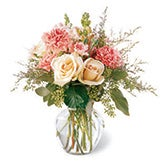 Gentle Sophistication Pale Rose Bouquet