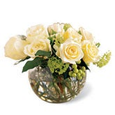 Heart's Content Cream Rose Bouquet