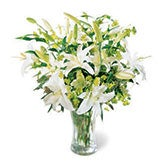 Pearly Splendor White Lily Bouquet