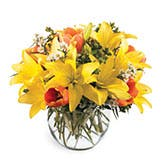 Glorious Melodies Yellow Lily Bouquet
