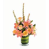 Tropical Sunrise Pink Lily Bouquet