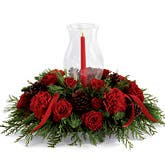 Opulent Red Rose Centerpiece