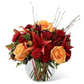 Beauty Orange Rose Fall Bouquet