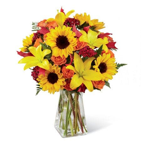 Harvest Harmony Sunflower Arrangement