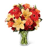 Orange Lily Bouquet of Fall Splendor