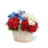Sweet Land of Liberty Rose Basket