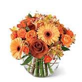 Nature's Elegance Orange Rose Bouquet