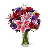 Wondrous Elegance Red Stargazer Lily Bouquet