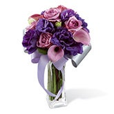 Purple Array Rose Calla Lily Bouquet