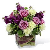 From the Heart Purple Rose Bouquet