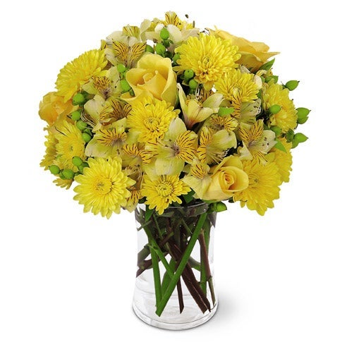 Sunlit Day Yellow Roses Bouquet
