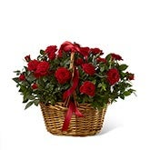 Mini Red Rose Basket