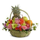 Flowers With Fruits Basket