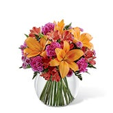 Tots Tropical Orange Lily Bouquet