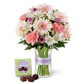 Chocolate And Gerbera Daisy Bouquet