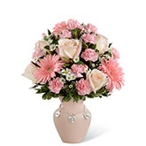 Celebrate New Mother's Baby Girl Bouquet