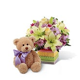 New Baby Celebration Bear Bouquet