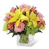 Pink Rose And Lily Bouquet, Hooray!
