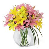 Yellow Lilies & Pink Lilies Orb