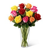 Radiant Spark Rose Bouquet