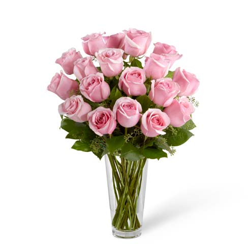Lavishly Long Stemmed Pink Roses