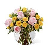 Sunshine Mixed Rose Bouquet Globe