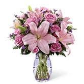 Blushing Wonder Pink Lily Bouquet