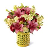 Summer Sunrise Pink Lily Bouquet