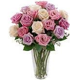 Long Stemmed Pastel Roses