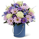 Blooms-A-Plenty Lavender Daisy Bouquet