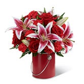 Red Radiance Stargazer Lily Bouquet