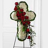 Floral Cross Standing Spray
