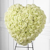 White Rose Remembrance Standing Heart
