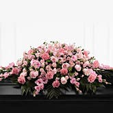 Pink Blossoms Casket Spray